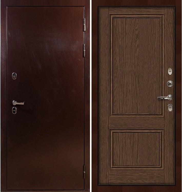 Входная дверь с терморазрывом Сибирь 3К / Энигма Орех (панель №57)