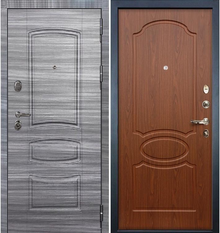 Входная дверь Легион Сандал серый / Береза мореная (панель №12)