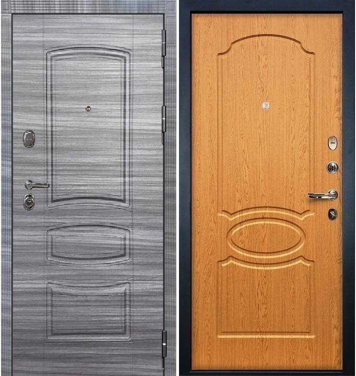 Входная дверь Легион Сандал серый / Дуб натуральный (панель №15)