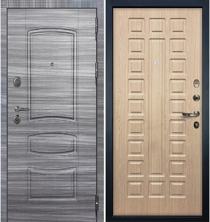 Входная дверь Легион Сандал серый / Беленый дуб (панель №20)