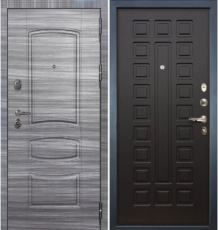 Входная дверь Легион Сандал серый / Венге (панель №21)