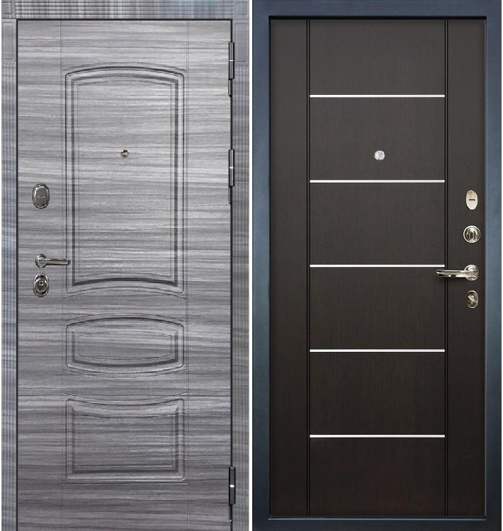 Входная дверь Легион Сандал серый / Венге (панель №24)