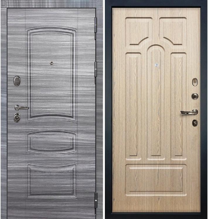 Входная дверь Легион Сандал серый / Беленый дуб (панель №25)