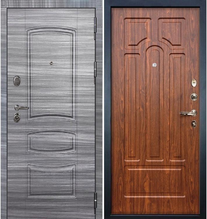 Входная дверь Легион Сандал серый / Береза мореная (панель №26)