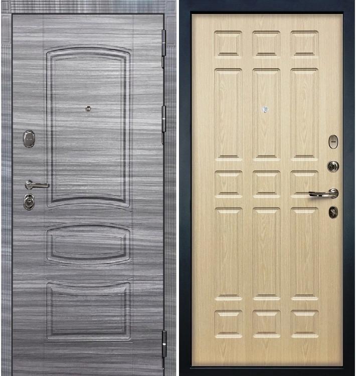 Входная дверь Легион Сандал серый / Беленый дуб (панель №28)