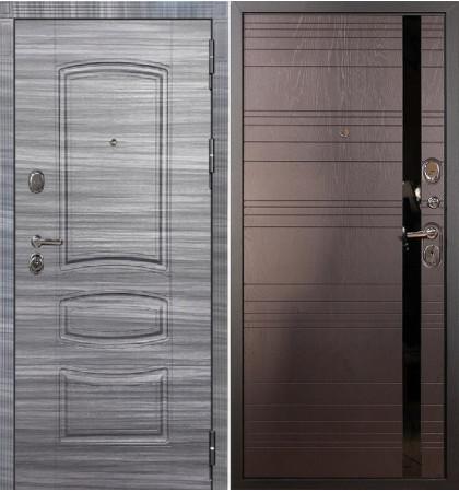 Входная дверь Легион Сандал серый / Ясень шоколадный (панель №31)