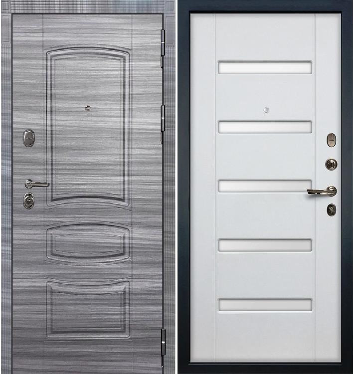 Входная дверь Легион Сандал серый / Белый ясень (панель №34)