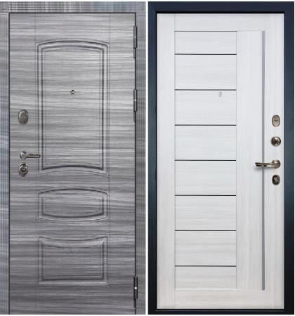 Входная дверь Легион Сандал серый / Верджиния Беленый дуб (панель №38)