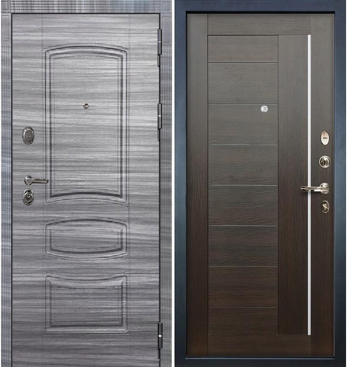 Входная дверь Легион Сандал серый / Верджиния Венге (панель №39)