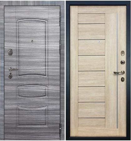 Входная дверь Легион Сандал серый / Верджиния Кремовый ясень (панель №40)