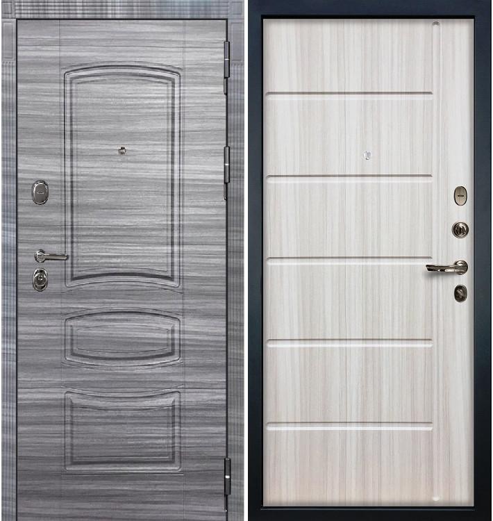 Входная дверь Легион Сандал серый / Сандал белый (панель №42)