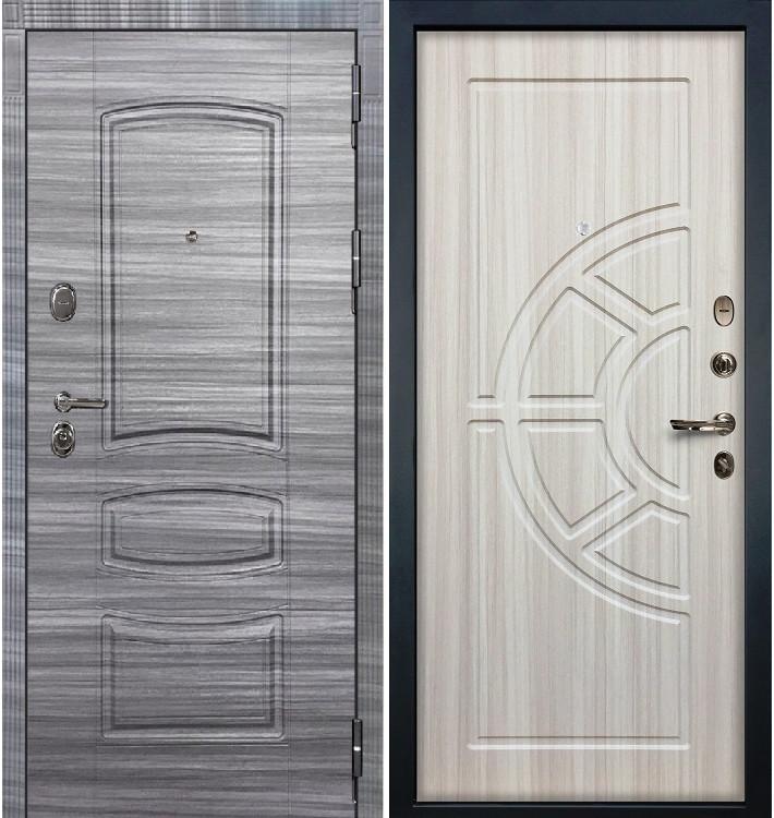 Входная дверь Легион Сандал серый / Сандал белый (панель №44)