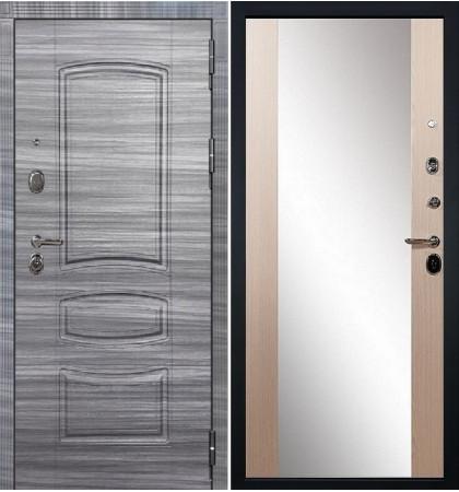 Входная дверь Легион Сандал серый / Стиль Беленый дуб (панель №45)