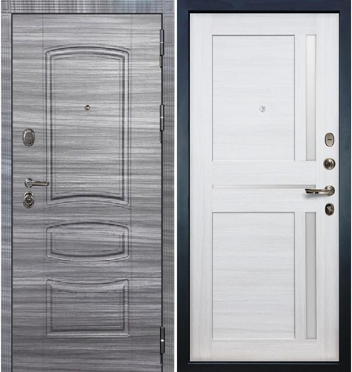 Входная дверь Легион Сандал серый / Баджио Беленый дуб (панель №47)