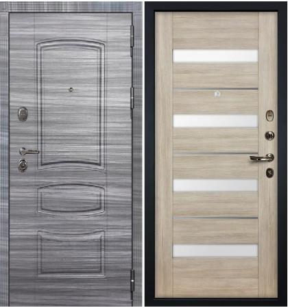 Входная дверь Легион Сандал серый / Сицилио Ясень кремовый (панель №48)