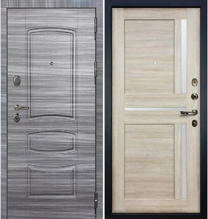 Входная дверь Легион Сандал серый / Баджио Кремовый ясень (панель №49)