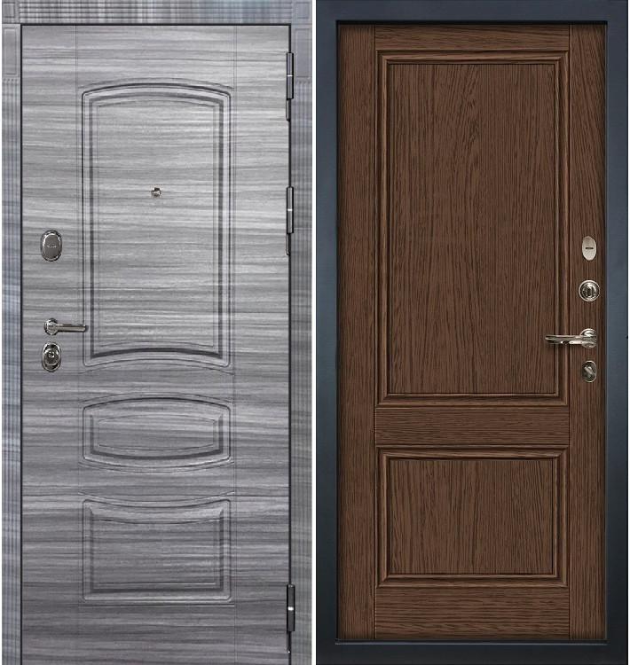 Входная дверь Легион Сандал серый / Энигма Орех (панель №57)
