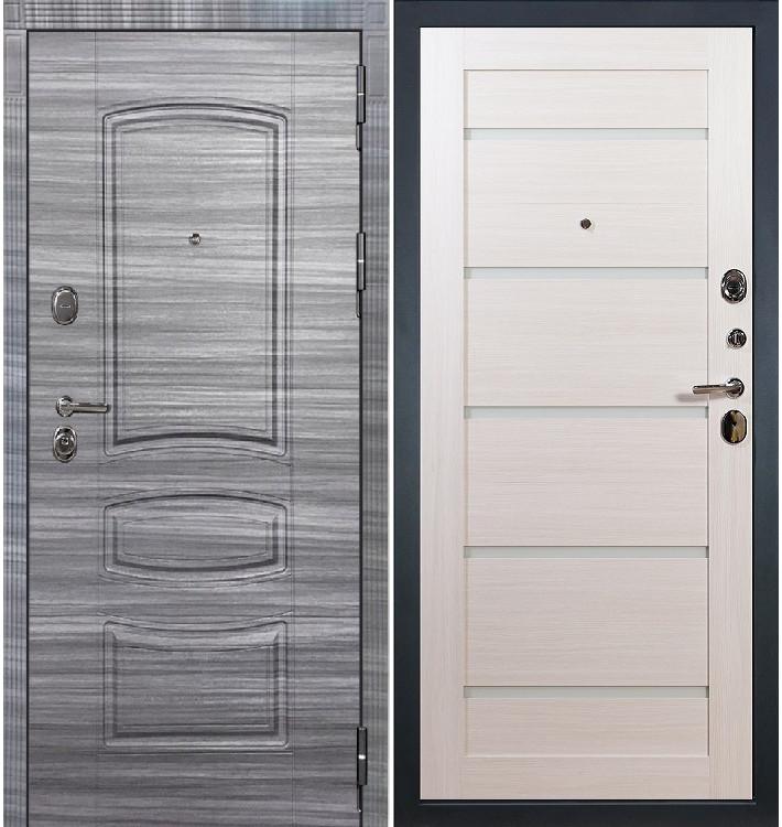 Входная дверь Легион Сандал серый / Клеопатра Беленый дуб (панель №58)