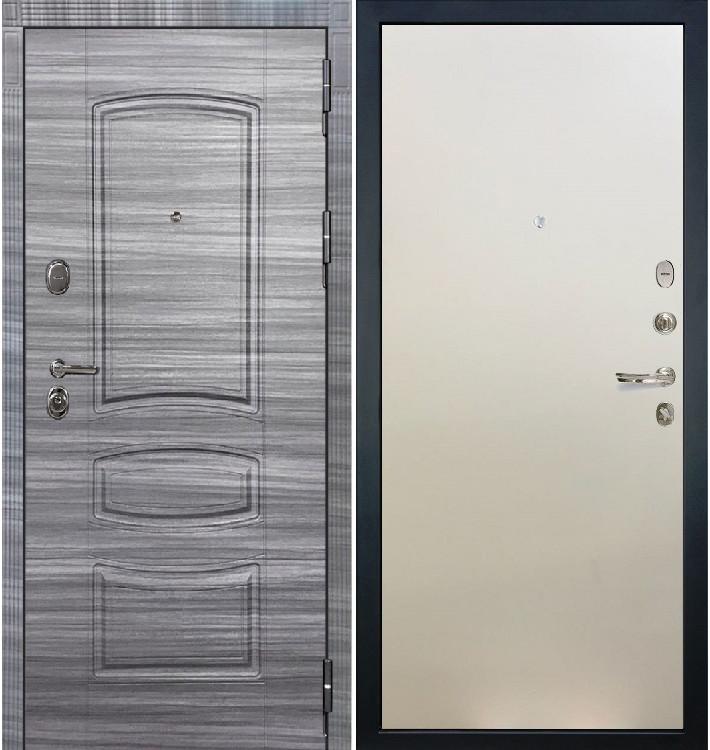 Входная дверь Легион Сандал серый / Белый ясень (панель №62)