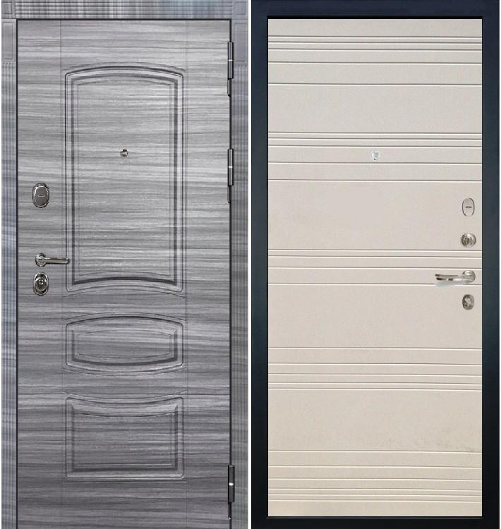Входная дверь Легион Сандал серый / Дуб фактурный крем (панель №63)