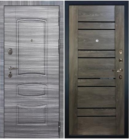 Входная дверь Легион Сандал серый / Терра Графит шале (панель №64)