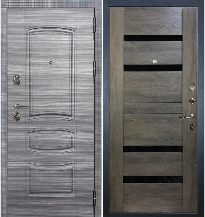 Входная дверь Легион Сандал серый / Неро Графит шале (панель №65)
