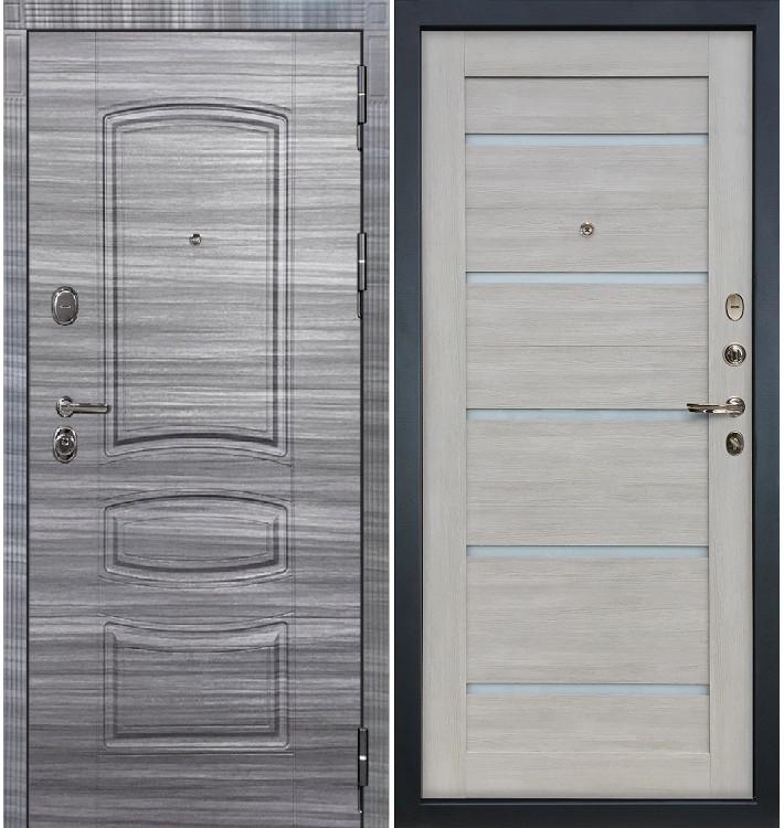 Входная дверь Легион Сандал серый / Клеопатра Ясень кремовый (панель №66)
