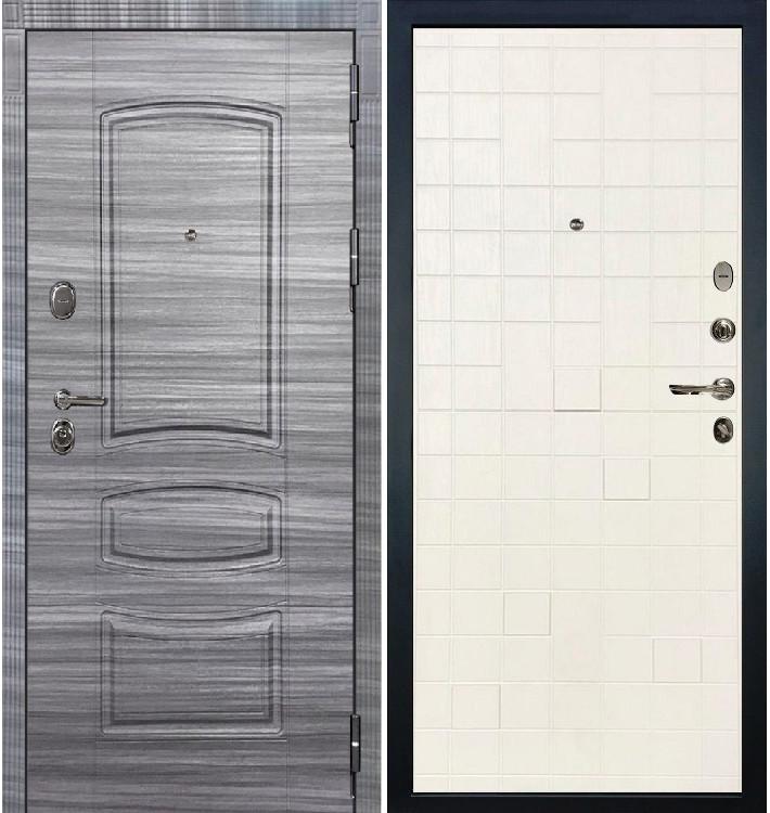 Входная дверь Легион Сандал серый / Белый ясень (панель №56)