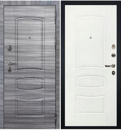 Входная дверь Легион Сандал серый / Белая шагрень (панель №68)