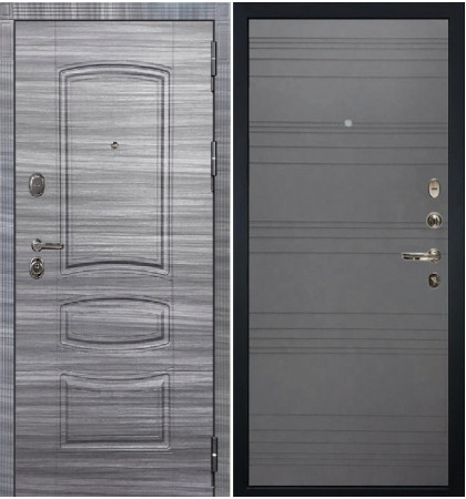 Входная дверь Легион Сандал серый / Графит софт (панель №70)