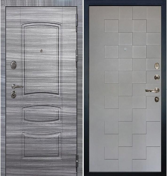 Входная Дверь Сенатор 3К Сандал серый Квадро / Графит софт (панель №72)