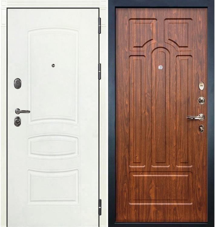 Входная дверь Легион Белая шагрень / Береза мореная (панель №26)