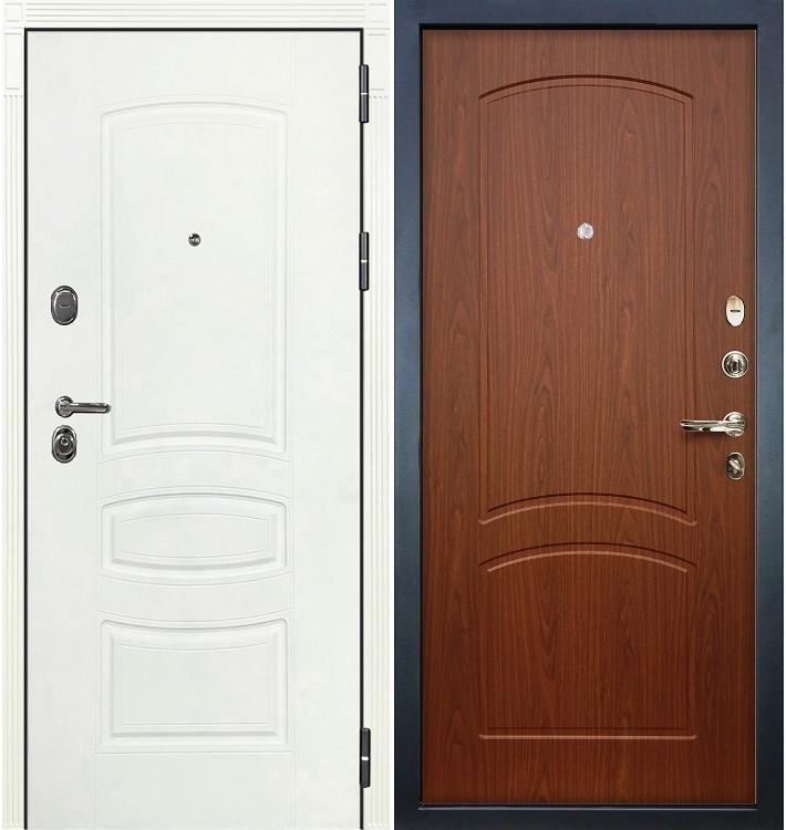 Входная дверь Легион Белая шагрень / Береза мореная (панель №11)