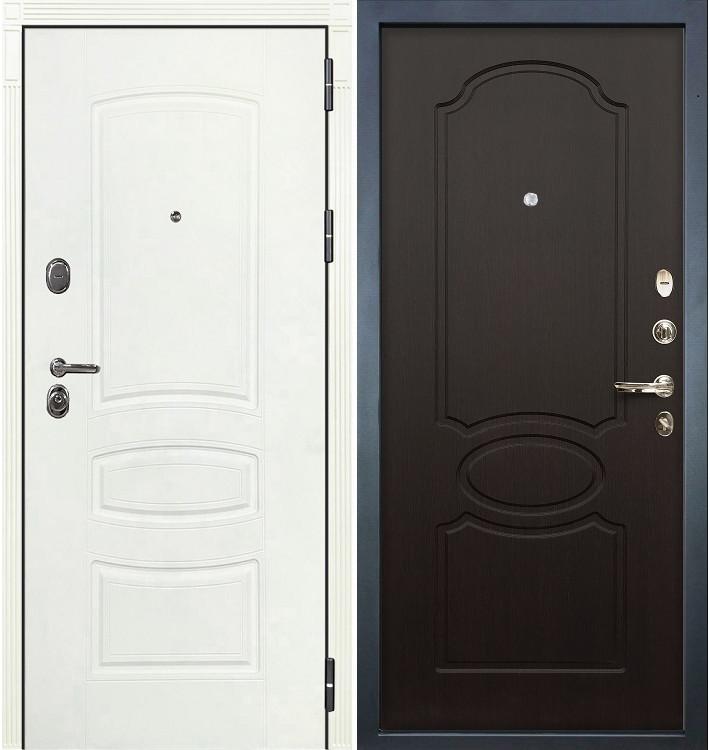 Входная дверь Легион Белая шагрень / Венге (панель №13)