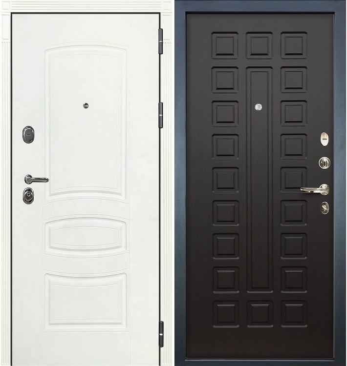 Входная дверь Легион Белая шагрень / Венге (панель №21)