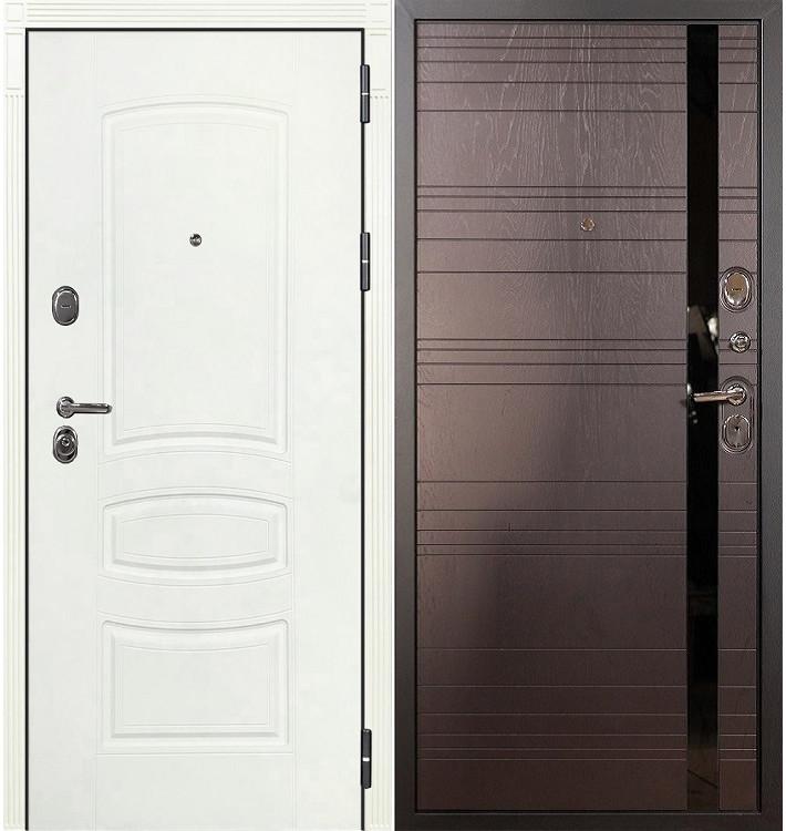 Входная дверь Легион Белая шагрень / Ясень шоколадный (панель №31)