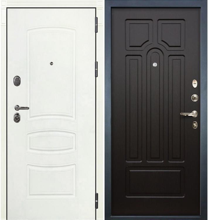 Входная дверь Легион Белая шагрень / Венге (панель №32)