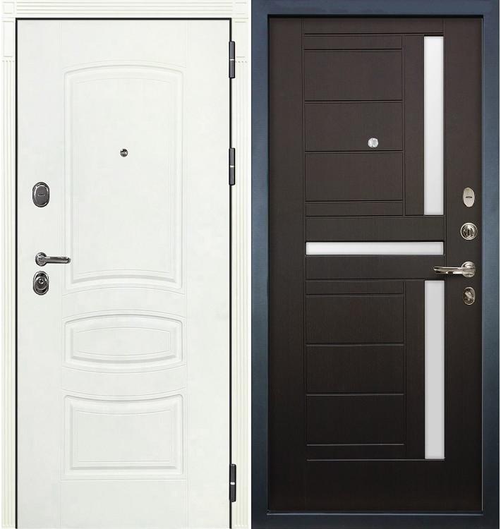 Входная дверь Легион Белая шагрень / Венге (панель №35)