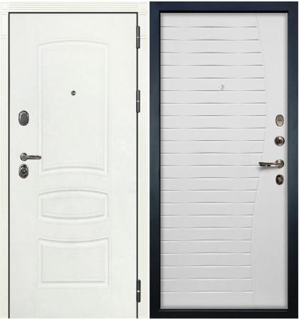 Входная дверь Легион Белая шагрень / Волна Белый ясень (панель №36)