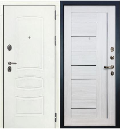 Входная дверь Легион Белая шагрень / Верджиния Беленый дуб (панель №38)