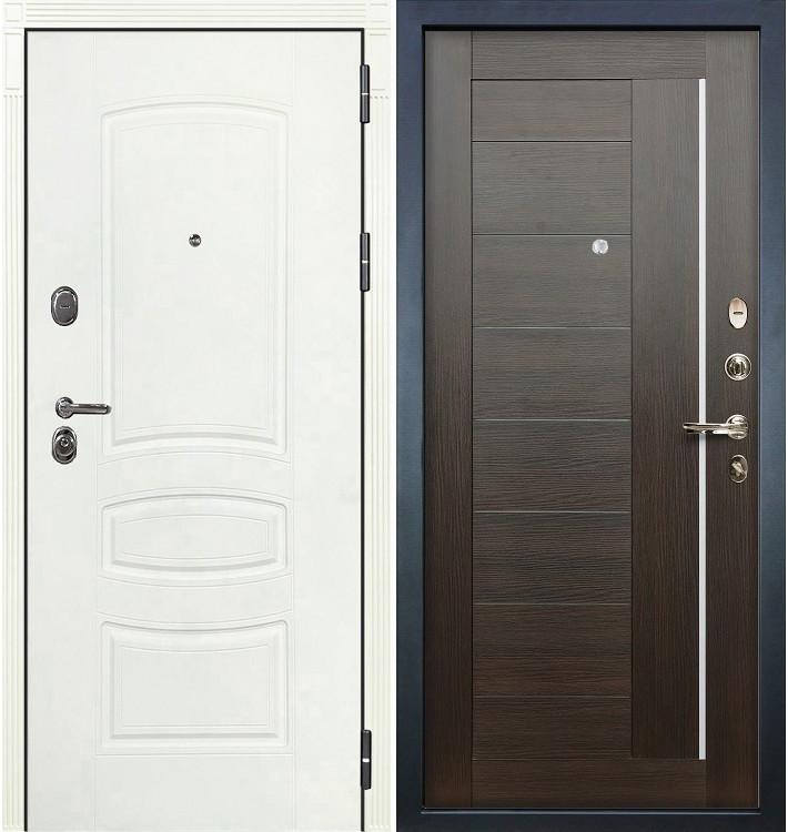 Входная дверь Легион Белая шагрень / Верджиния Венге (панель №39)