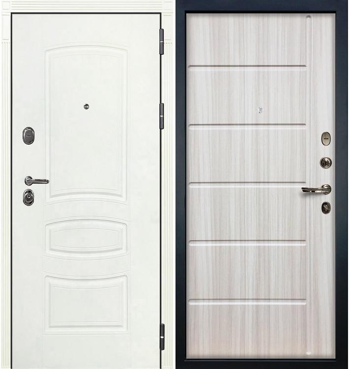 Входная дверь Легион Белая шагрень / Сандал белый (панель №42)