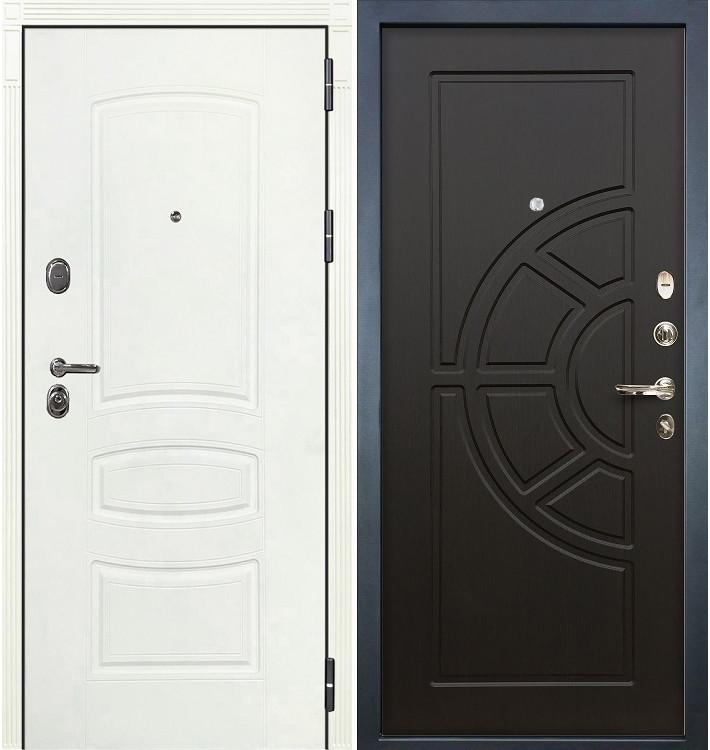 Входная дверь Легион Белая шагрень / Венге (панель №43)