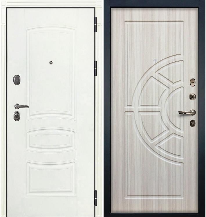 Входная дверь Легион Белая шагрень / Сандал белый (панель №44)
