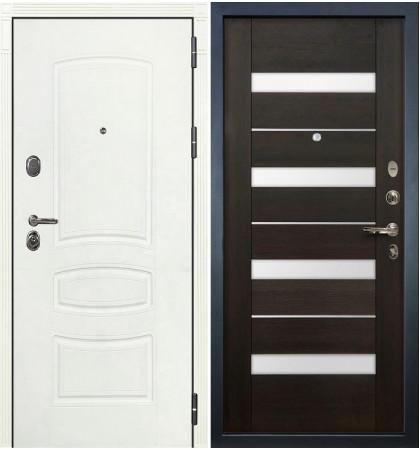 Входная дверь Легион Белая шагрень / Сицилио Венге (панель №51)