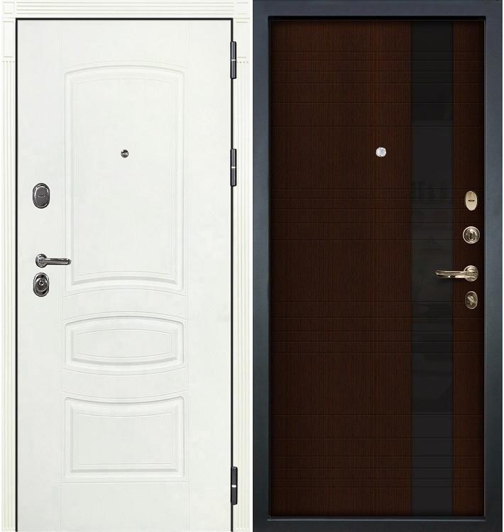 Входная дверь Легион Белая шагрень / Новита Венге (панель №53)