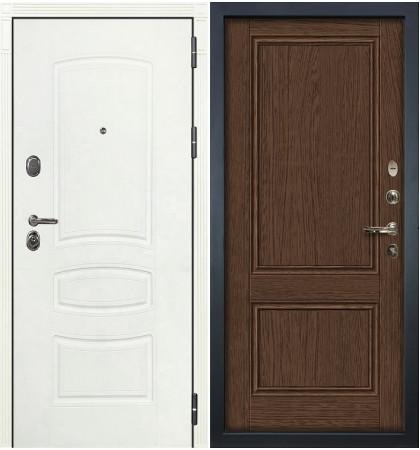 Входная дверь Легион Белая шагрень / Энигма Орех (панель №57)