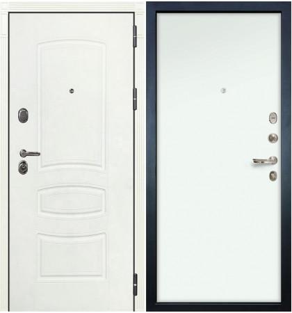 Входная дверь Легион Белая шагрень / Белый винорит (панель №59)