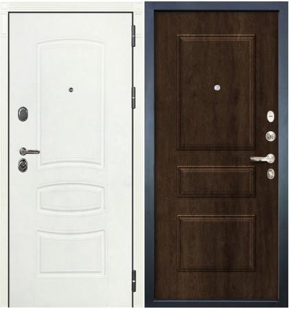 Входная дверь Легион Белая шагрень / Алмон 28 (панель №60)