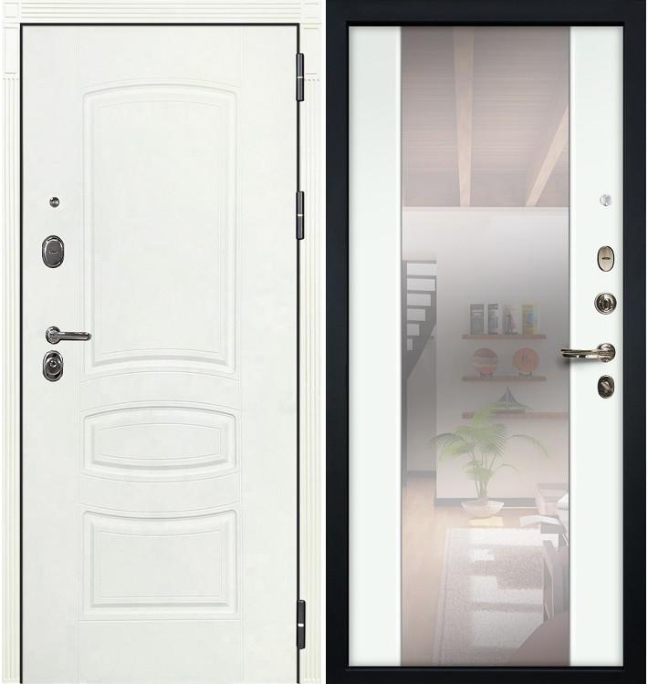 Входная дверь Легион Белая шагрень / Стиль Белый экошпон (панель №61)
